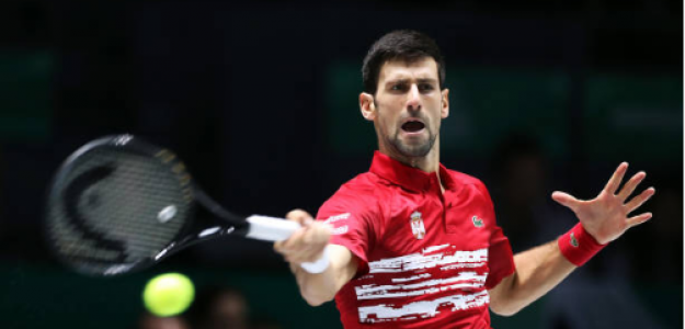 Novak Djokovic gana a Karen Khachanov en Copa Davis 2019. Foto: gettyimages