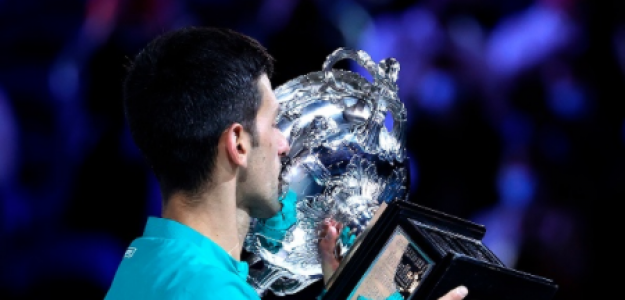Novak Djokovic, campeón del Open de Australia 2021. Foto: gettyimages