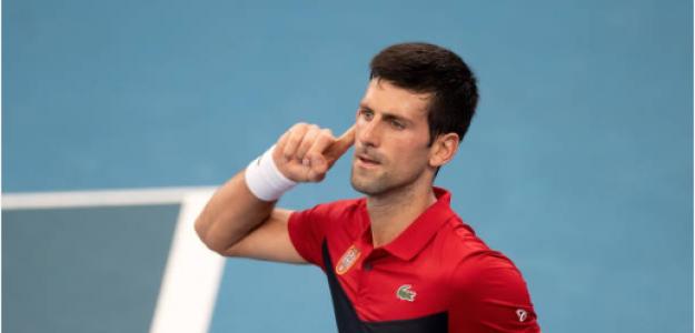 Novak Djokovic gana a Denis Shapovalov en ATP Cup 2020. Foto: gettyimages