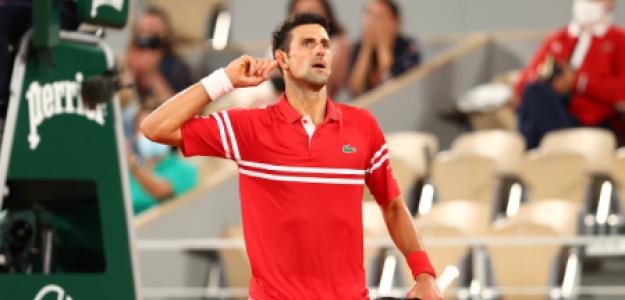 Novak Djokovic gana a Rafael Nadal en Roland Garros 2021. Foto: gettyimages