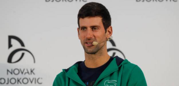 Djokovic habla sobre el hecho de tener a la grada en su contra. Foto: Getty