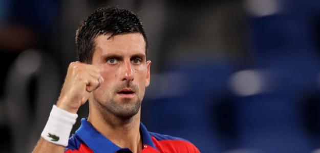 Djokovic, a dos partidos del Oro. Foto: Getty