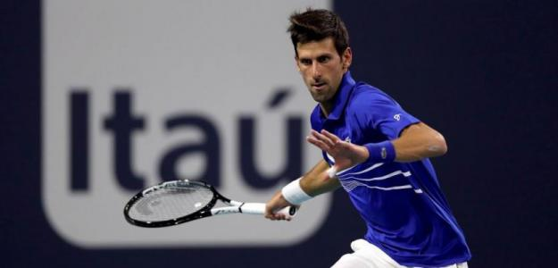 Novak Djokovic en Miami Open 2019. Foto: zimbio