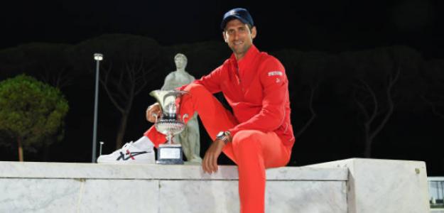 Djokovic podría batir el récord de Federer de más semanas como N1 en Roland Garros y Australia. Foto: Getty