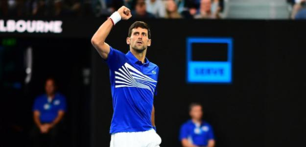 Novak Djokovic en Open de Australia 2019 contra Rafael Nadal. Foto: zimbio