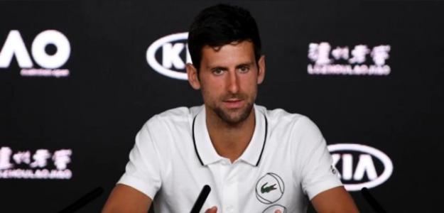 Novak Djokovic en rueda de prensa Open de Australia 2019. Foto: zimbio