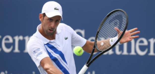 Novak Djokovic gana a Roberto Bautista en Cincinnati 2020. Foto: gettyimages