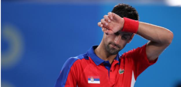 Novak Djokovic pierde con Alexander Zverev. Foto: gettyimages