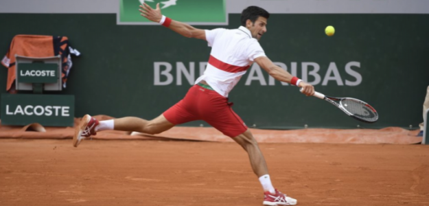 Novak Djokovic en Roland Garros 2019. Foto: Twitter Oficial de Roland Garros.