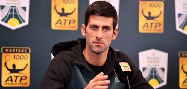 Novak Djokovic en Masters 1000 Rolex Paris 2018. Foto: zimbio