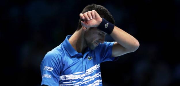 Novak Djokovic durante el partido ante Federer. Foto: Getty