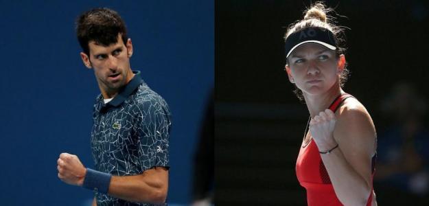Novak Djokovic y Simona Halep, números 1 del mundo. Foto: zimbio