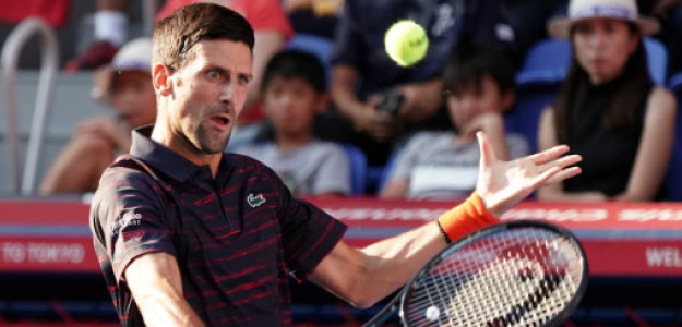 Novak Djokovic en Tokio 2019 ante Go Soeda. Foto: gettyimages
