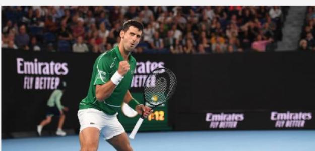 Novak Djokovic gana a Jan-Lennard Struff en Open Australia 2020. Foto: gettyimages