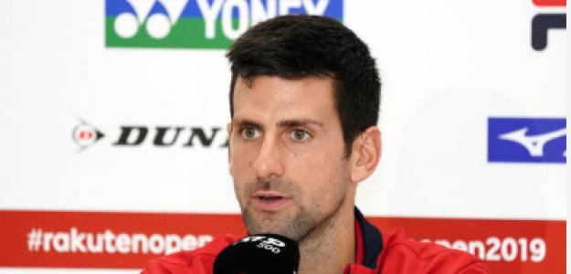 Novak Djokovic habla de su hombro en Tokio 2019. Foto: gettyimages