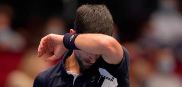 Novak Djokovic en su último partido en Viena. Fuente: Getty