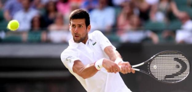 Novak Djokovic gana a Hubert Hurkacz en Wimbledon 2019. Foto: gettyimages