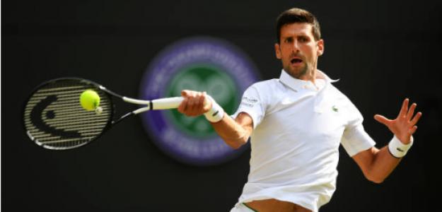 Novak Djokovic gana a Ugo Humbert en Wimbledon 2019. Foto: gettyimages