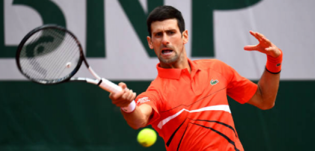 Novak Djokovic en Roland Garros 2019. Foto: gettyimages