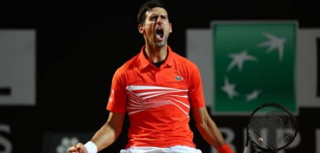 Novak Djokovic en Roma. Foto: Getty Images