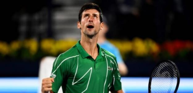 Novak Djokovic en Dubái. Foto: Getty Images