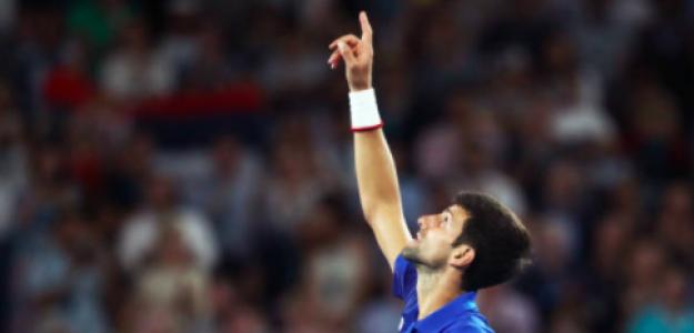 Novak Djokovic marca el camino. Fuente: Getty