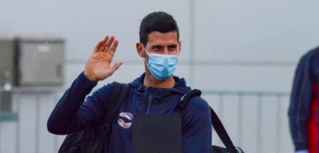 Novak Djokovic a su llegada a Australia. Fuente: Getty