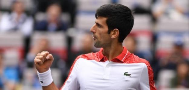 Novak Djokovic en Shanghái. Foto: Getty Images