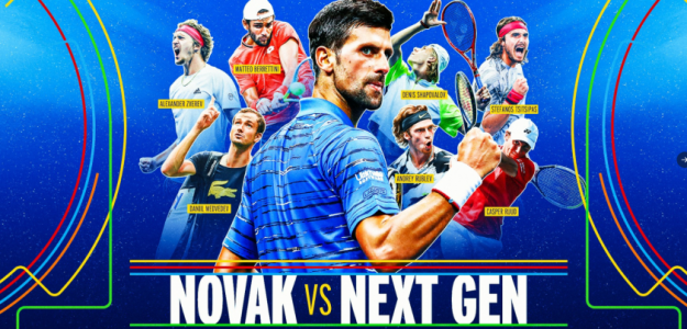 Novak vs Next Gen. Fuente: @usopen