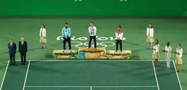 Podio en tenis de Río 2016. Fuente: Getty