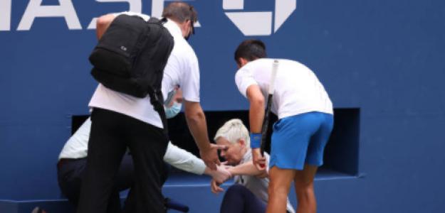 El incidente de Djokovic con la juez de línea. Fuente: Getty
