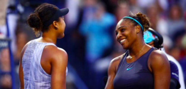 Osaka y Serena se dan la mano al finalizar el encuentro. Fuente: Getty