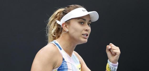 Paula Badosa estrenando su cuenta de victorias en Grand Slam.