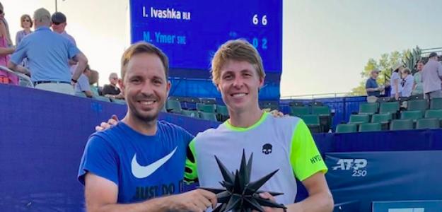 Pepe Checa e Ilya Ivashka con el trofeo de Winston-Salem. Fuente: PDB
