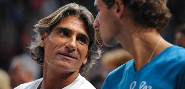 Pepe Imaz en el banquillo de Djokovic. Foto: Getty