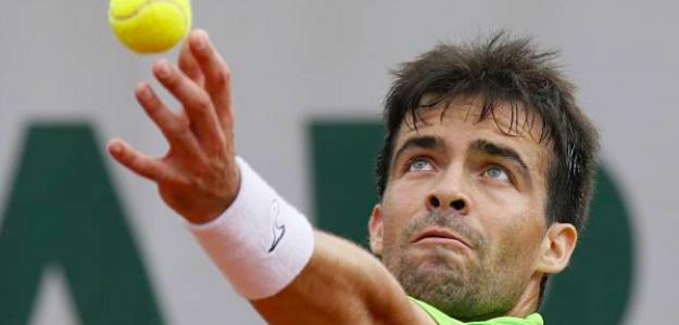Pere Riba disputando Roland Garros. Fuente: Getty