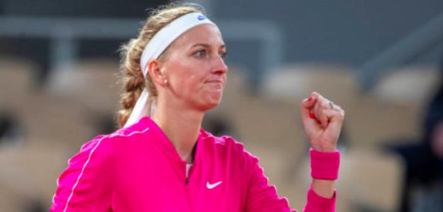 Petra Kvitova levanta el puño en París. Fuente: Getty
