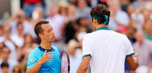 Kohlschreiber y Federer. Foto: US Open
