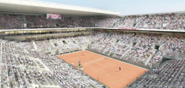Vista de cómo quedará la nueva Philippe Chatrier con techo. Foto: FFT
