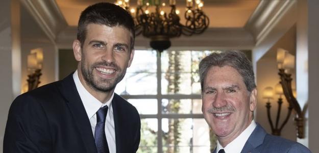 Gerard Piqué y David Haggerty. Foto: ITF