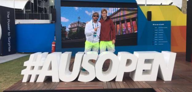 Vicente y Rublev disfrutaron de la experiencia del Open de Australia
