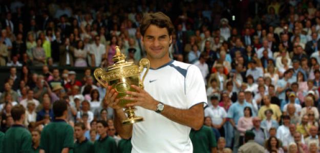 Roger Federer, campeón en Wimbledon 2005. Fuente: Getty
