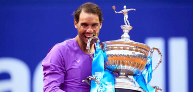 El mordisco del campeón, Rafa Nadal. Fuente: Getty