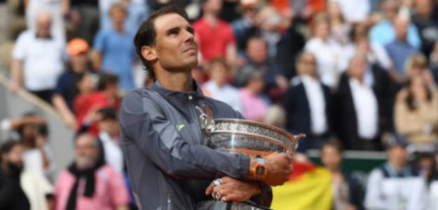 Rafa Nadal, en el palmarés de los jugadores con más títulos en Roland Garros. Foto: Getty