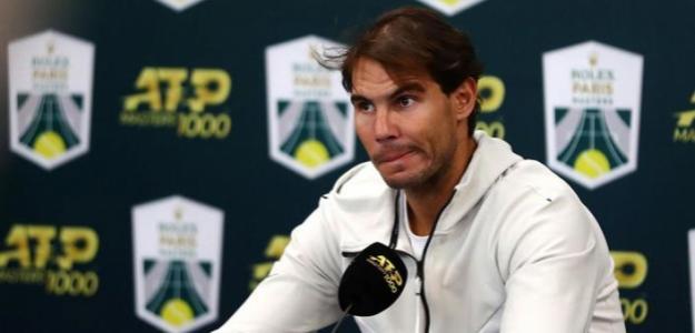 Rafa Nadal explicó su lesión a la prensa en París-Bercy. Fuente: Getty