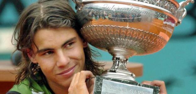 Rafael Nadal, conel título de Roland Garros, en 2005.
