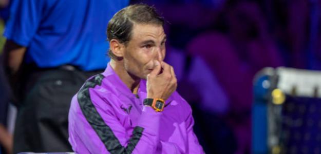 Las lágrimas de Rafa Nadal. Foto: Getty