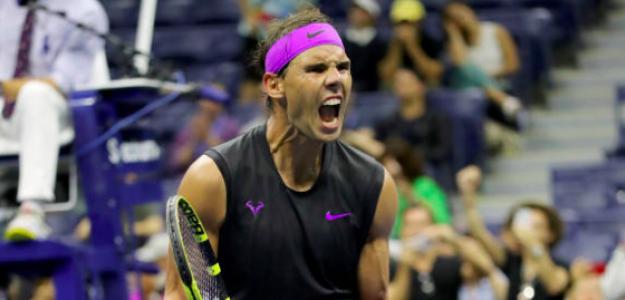 El grito de rabia de Rafa Nadal tras pasar a semifinales. Fuente: Getty