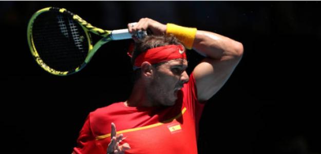 Rafael Nadal habla en ATP Cup 2020. Foto: gettyimages