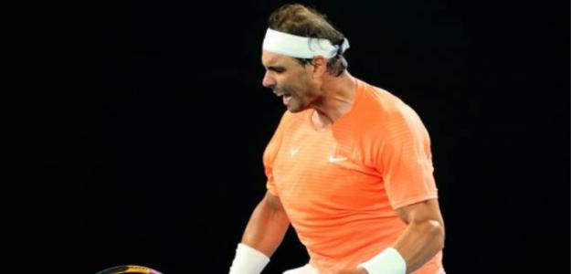 Rafael Nadal avanza a la cuarta ronda en Australia. Foto: Getty